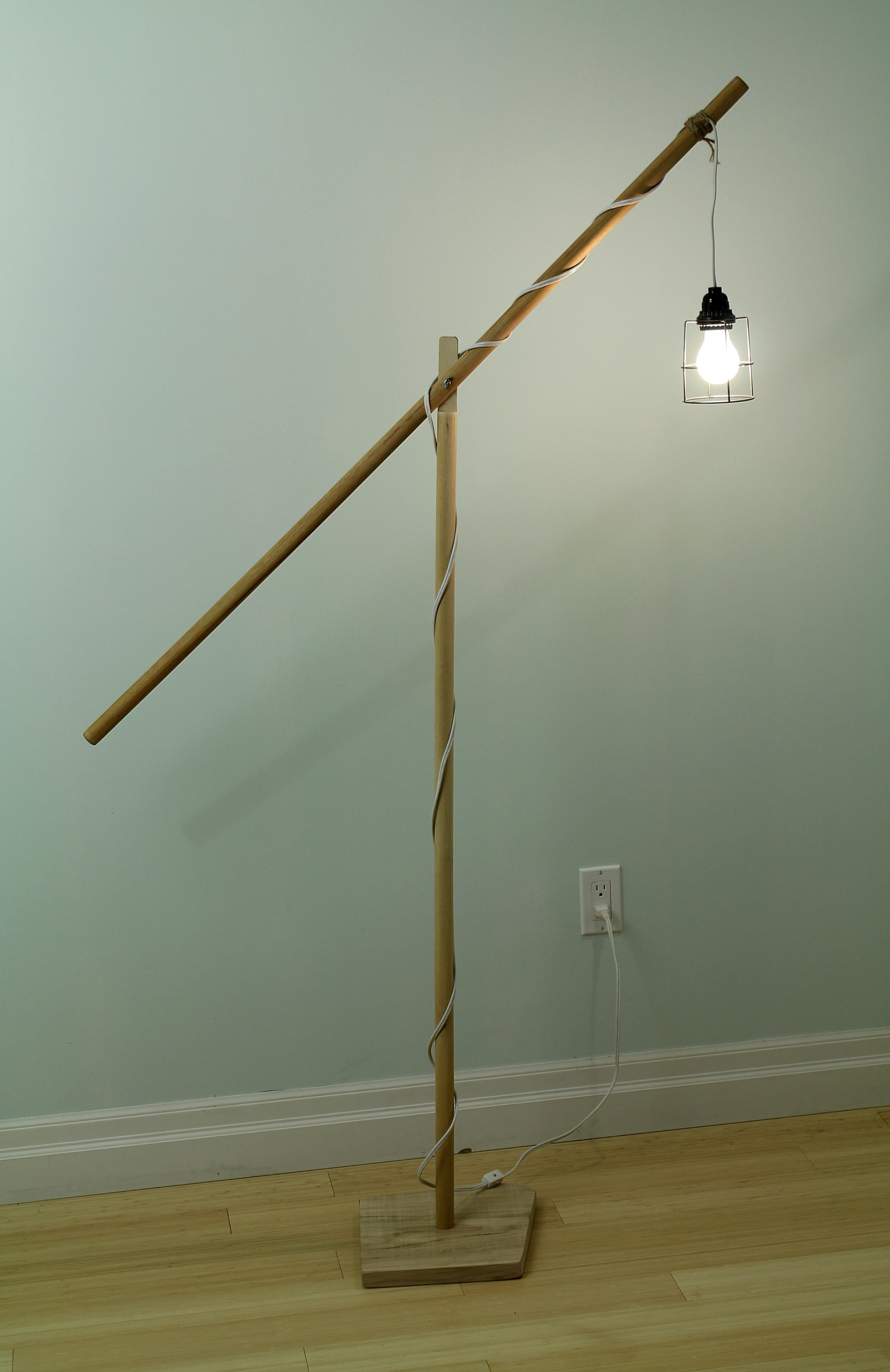 Boom Floor Lamp Bare Bulb With Switch
